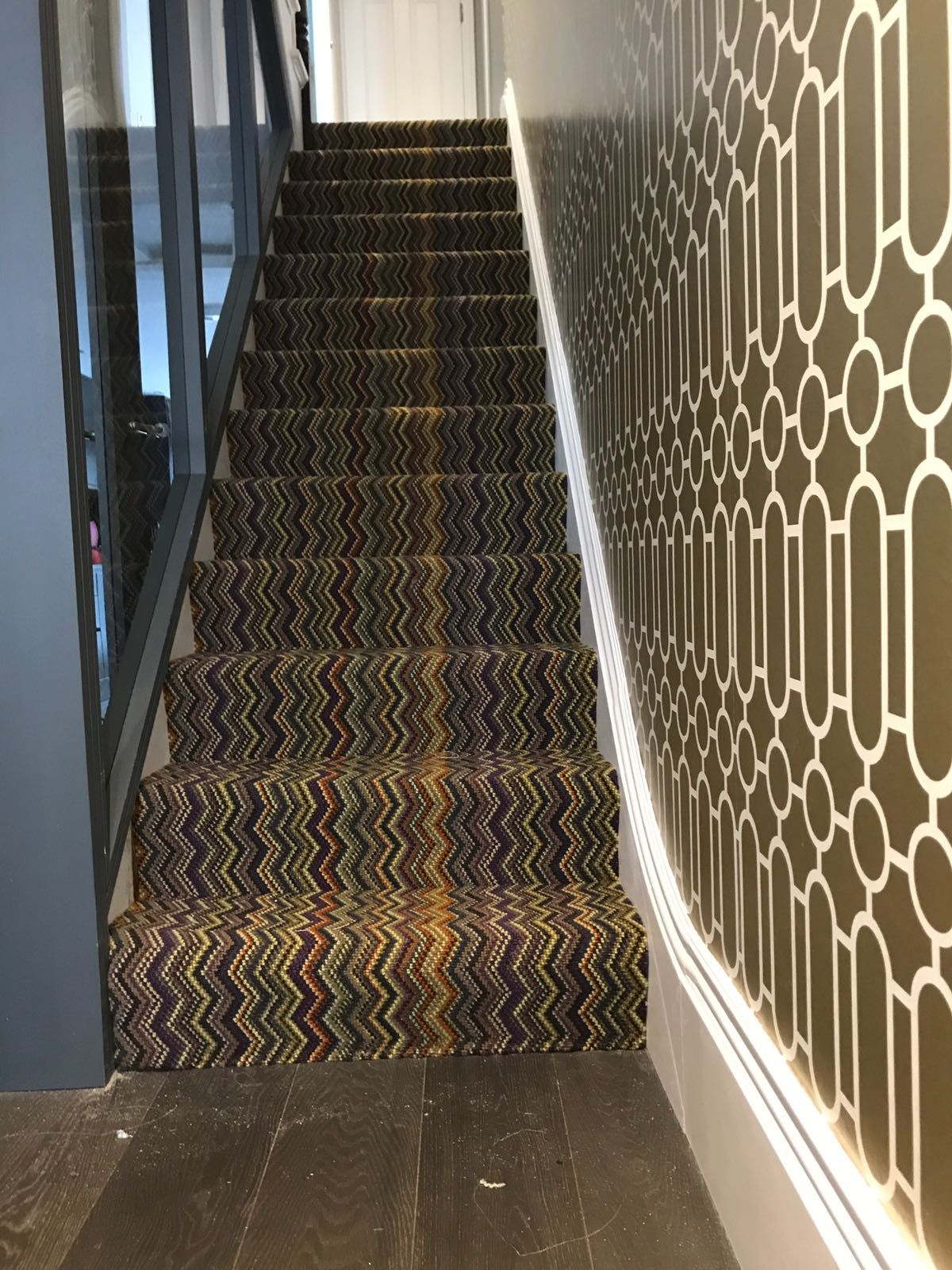 Fabulous Range Fitted Recently By Our Expert Fitters A Great Look For Stairs And Landings Not Sure About This Colour Pop I Carpet Shops Stairs Stair Runner