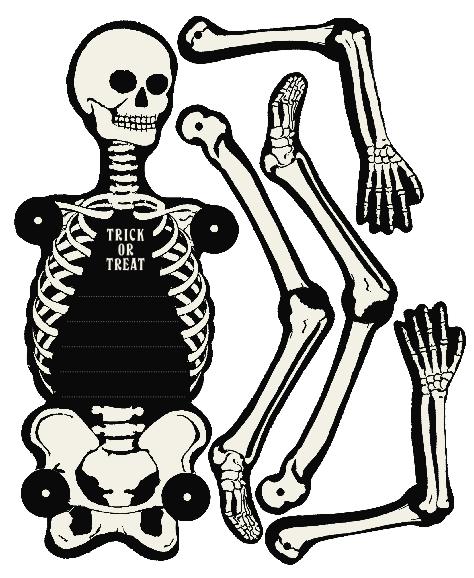 graphic about Skeletons Printable titled skeleton-invite-halloween-printable-martha-stewart - other