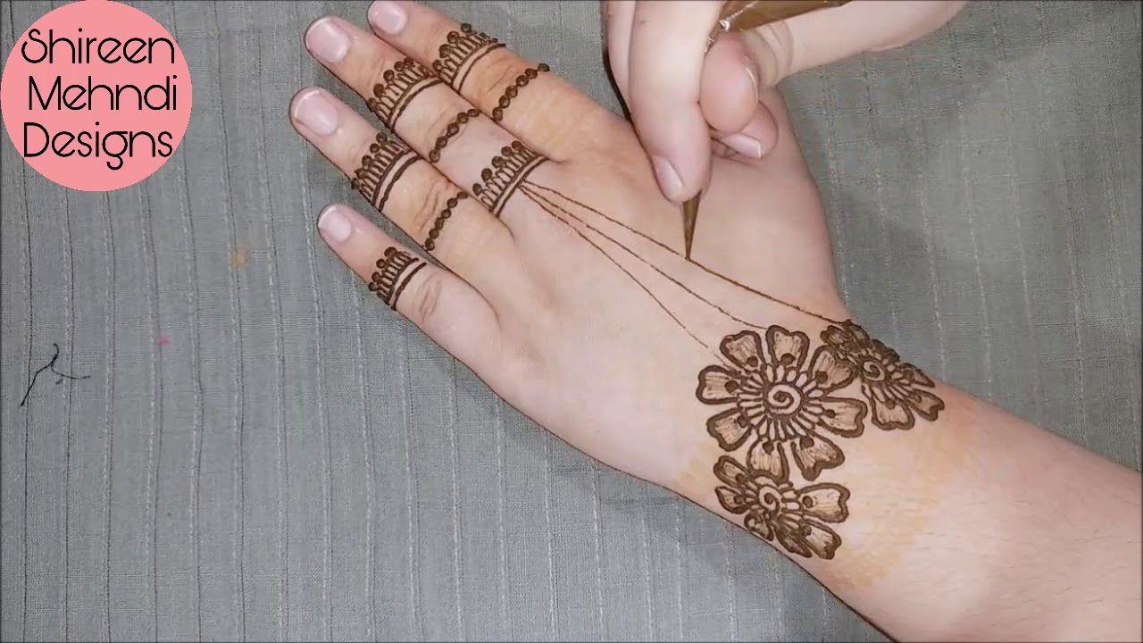New Simple Easy Mehndi Design For Hand Stylish Flower Jewellery Mehndi Latest Mehndi Designs Mehndi Designs For Fingers Mehndi Designs