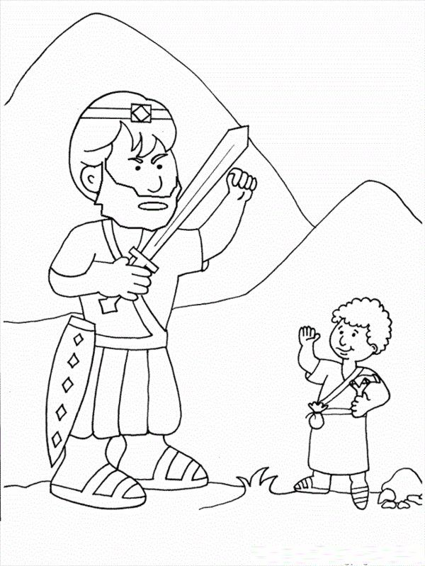 David And Goliath Coloring Pages Picture 11 Kinderkirche Kinder Malvorlagen