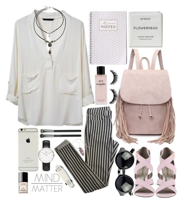 """""""I have a massive fear that no one actually likes me, rather everyone is just politely tolerating me hoping I leave them alone"""" by melaniecleary ❤ liked on Polyvore featuring Topshop, Michael Antonio, MAC Cosmetics, Chanel, Byredo, Daniel Wellington, Børn and Quiksilver"""