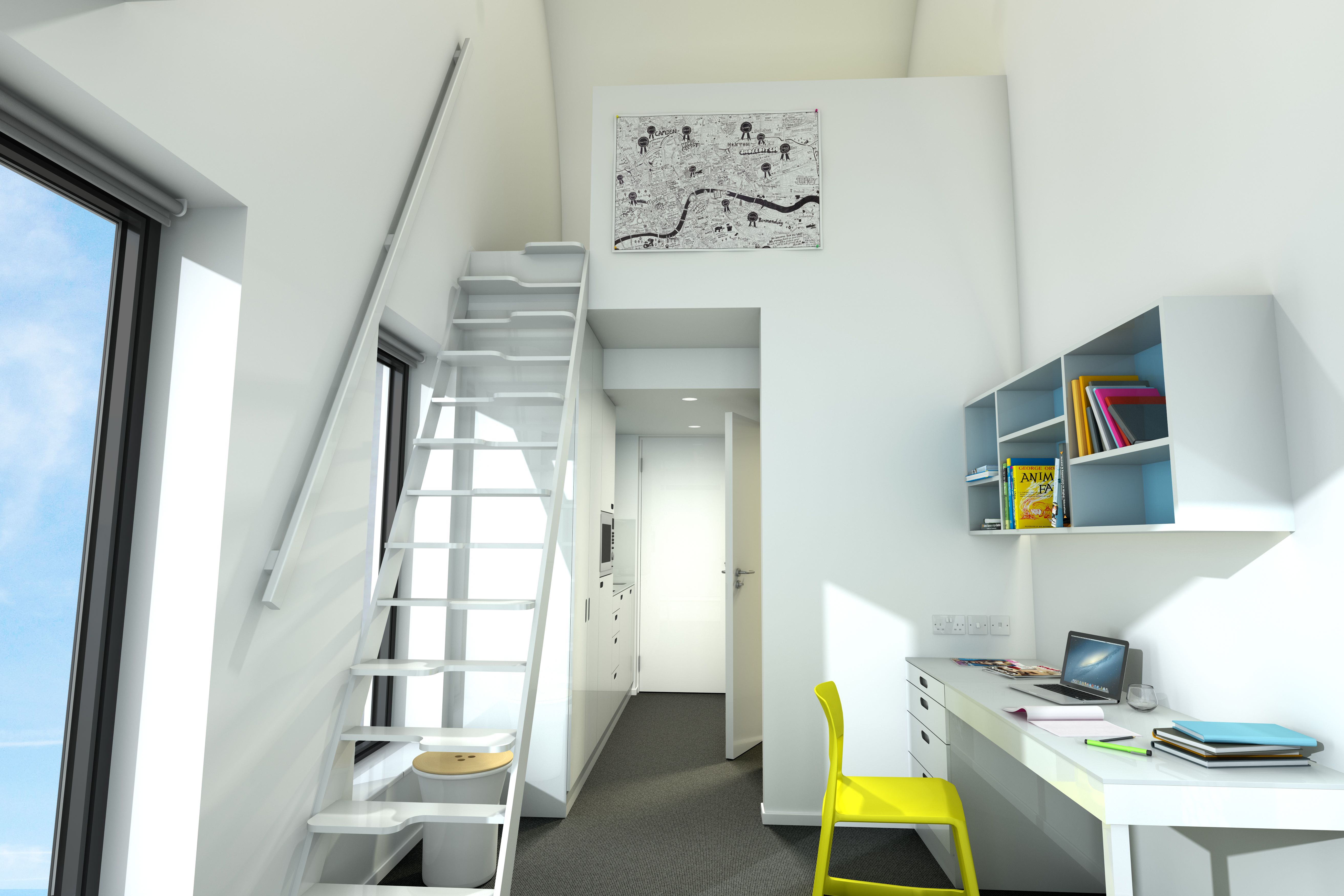 scape greenwich studio duplex a student housing pinterest studio small spaces and. Black Bedroom Furniture Sets. Home Design Ideas