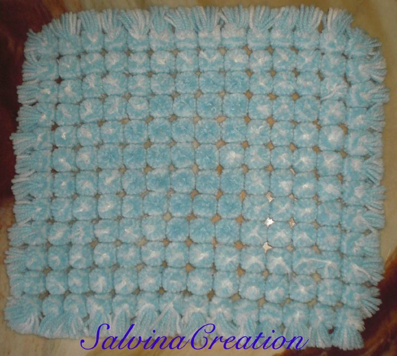 Pompom blanket made on butterfly loom (simply made from carton ...