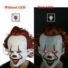 Pennywise Joker Mask It Chapter Two 2 Horror Clown Halloween Scary Mask wLED US  2019