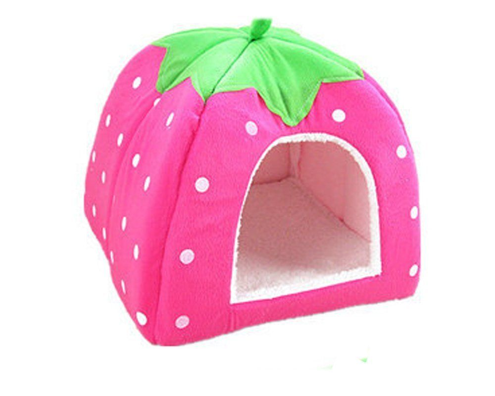 S-Lifeeling Autumn Winter Hot Style Cute Pet Strawberry Ger Warm Dog Kennelcat Houseindoor Water Resistant Beds