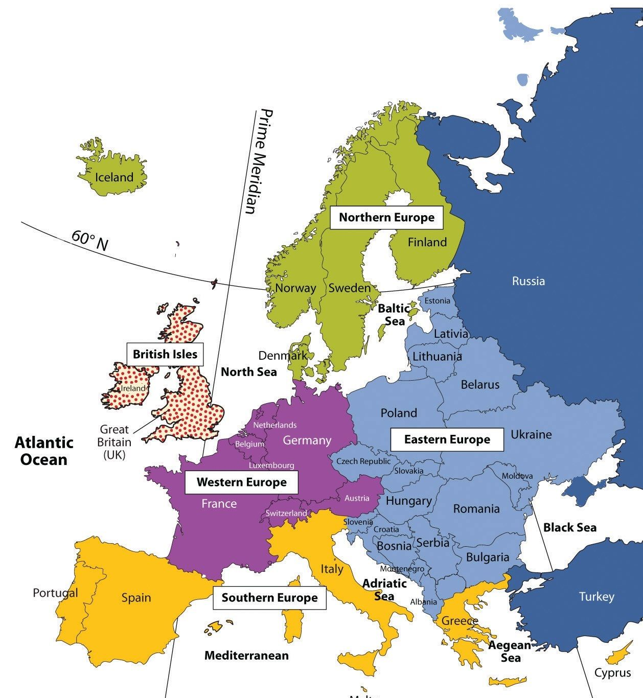 traditional regions of europe