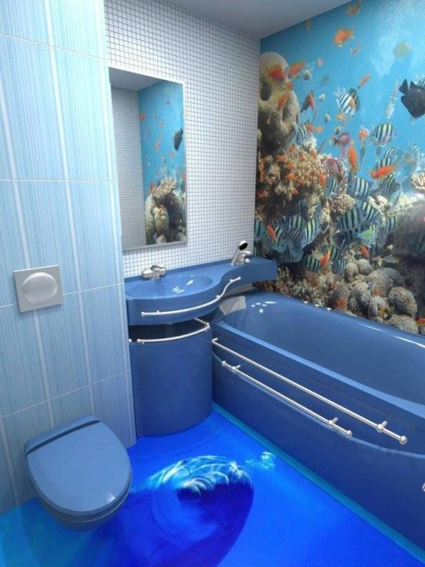 Unique 3D Bathroom Floor Designs That Will Blow Your Mind  Dream Brilliant 3D Bathroom Designer Decorating Design