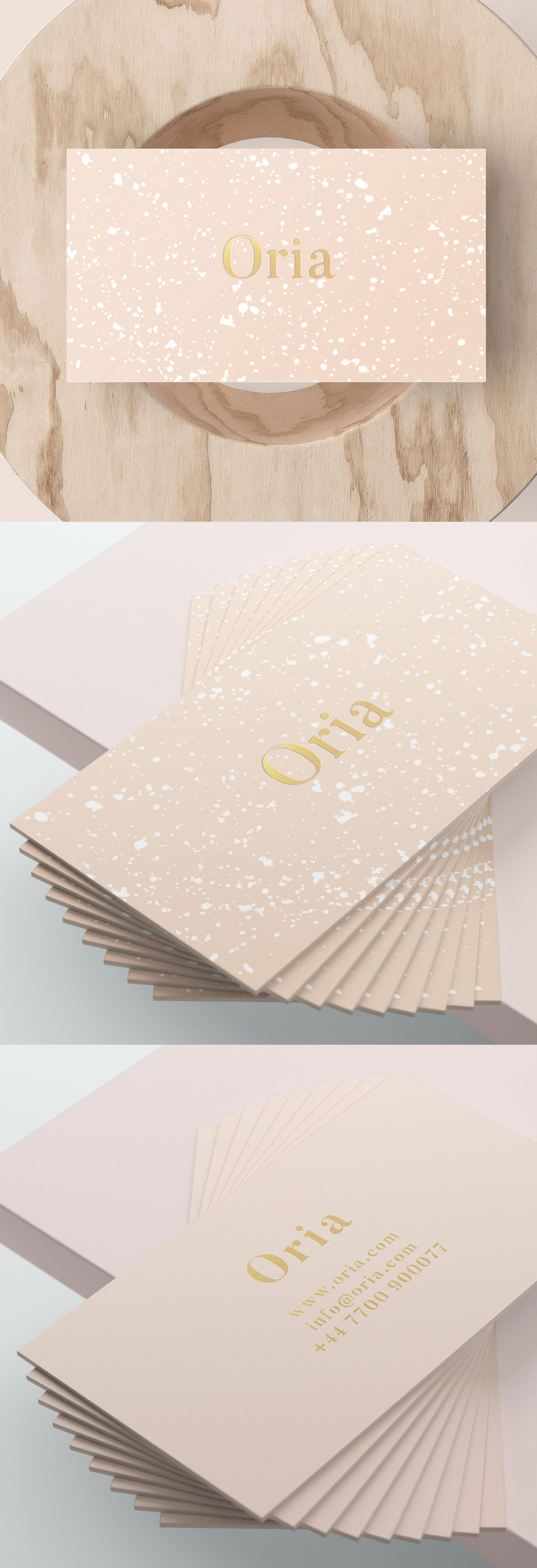ORIA (Peach): Business Card | Serif, Fonts and Logos