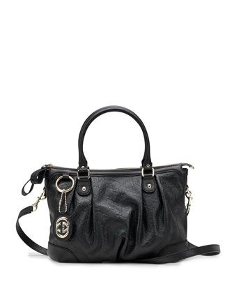 87b876fedc90 Sukey+Guccissima+Leather+Top+Handle+Bag,+Black+by+Gucci+at+Neiman+Marcus.
