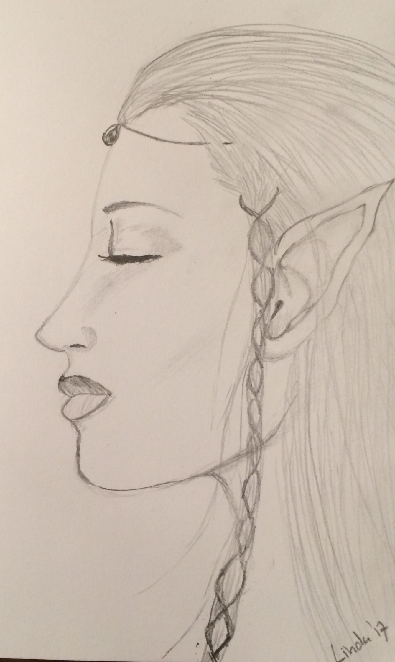 quick pencil drawing elf sketch pinterest sketches and draw