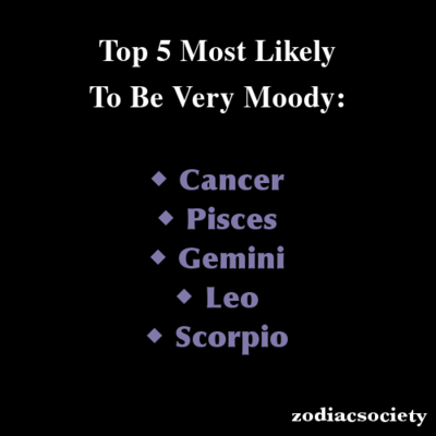 Zodiac signs: Top 5 Most Likely To Be Very Moody | Zodiac