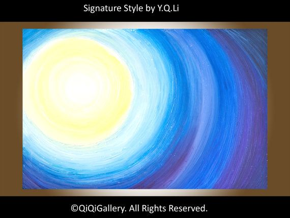 Abstract Acrylic Painting Original Modern Heavy by QiQiGallery, $275.00