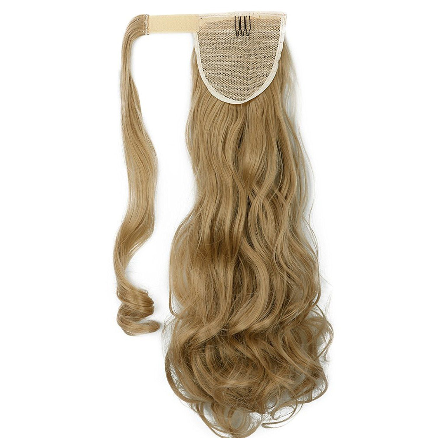 18 24 Synthetic Long Curly Straight Wrap Around Ponytail Clip in Hair Extensions >>> This is an Amazon Affiliate link. For more information, visit image link.