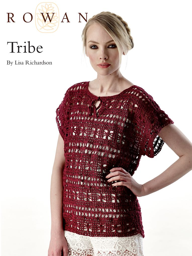 Tribe Tee Top By Lisa Richardson Free Crochet Pattern With Website