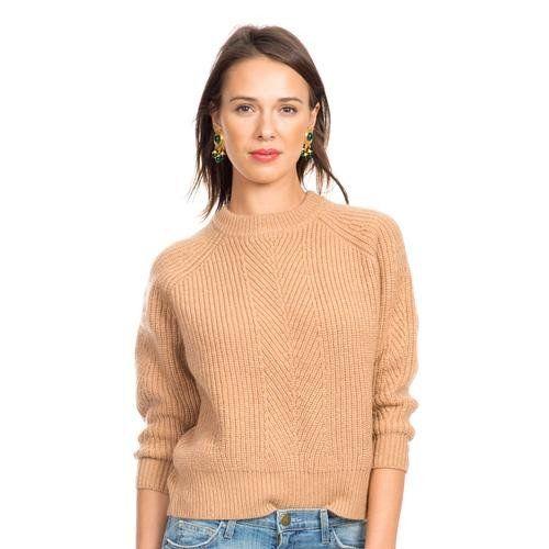 Camel Chelsea Crewneck Sweater | Sweaters | Pinterest | Crewneck ...