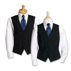 Solid Black Bistro Vest