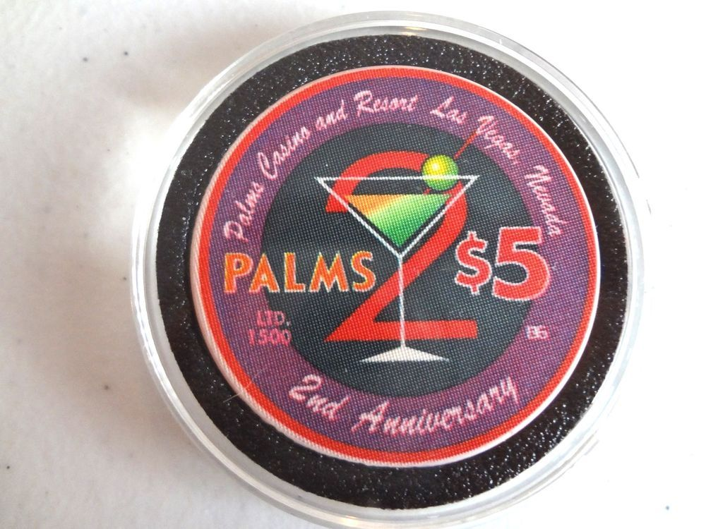 PALMS LAS VEGAS 2ND ANNIVERSARY 2003 (MARTINI) $5 CASINO CHIP