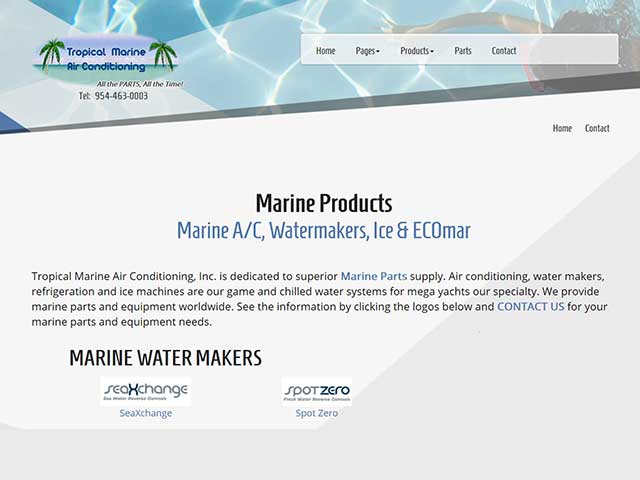 Marine Air Conditioning Parts Water Makers Tropical