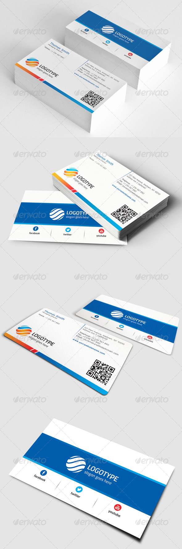 Corporate Business Card GraphicRiver Features