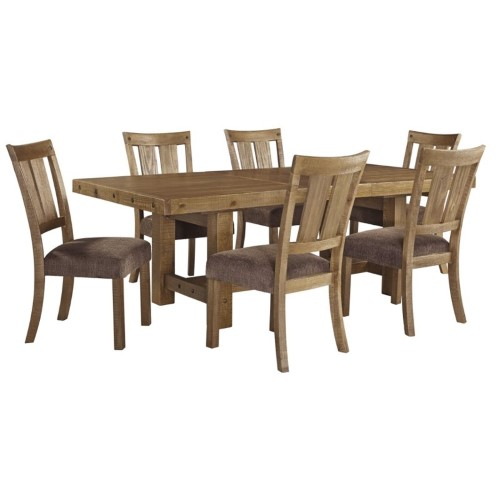 Ashley Furniture Tamilo Gray Brown Dining Room Server: Ashley Tamilo 7 Piece Dining Set In Gray And Brown