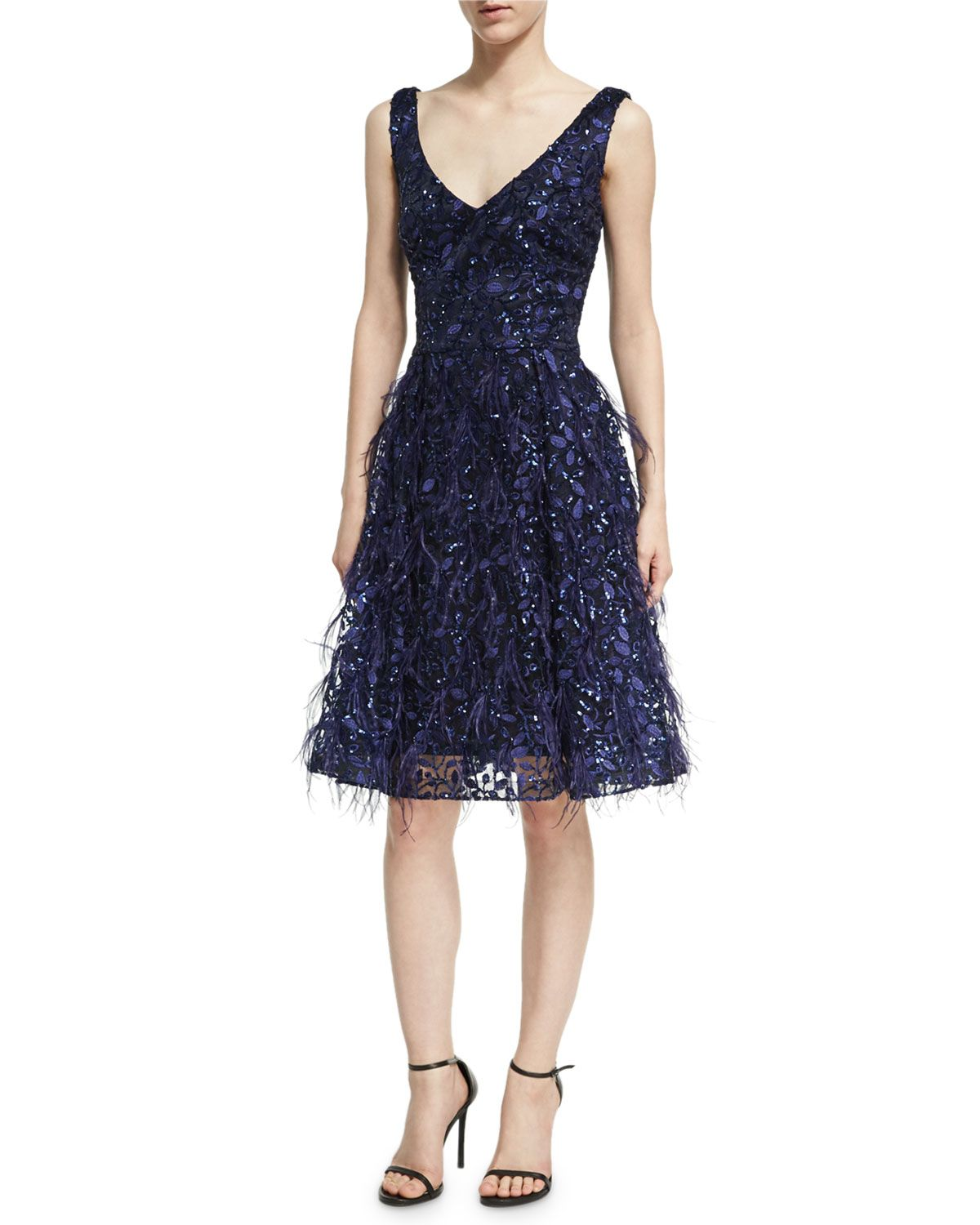 David meister sleeveless lace eyelash dress royal david meister