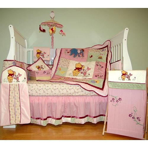 Pin On Angel, Pink Winnie The Pooh Baby Bedding