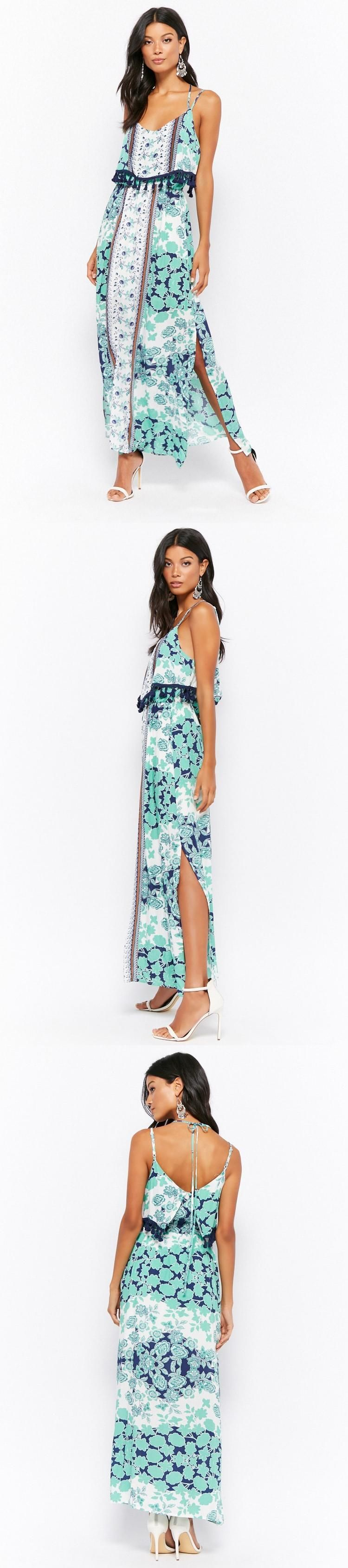 Layered floral print maxi dress usd forever new