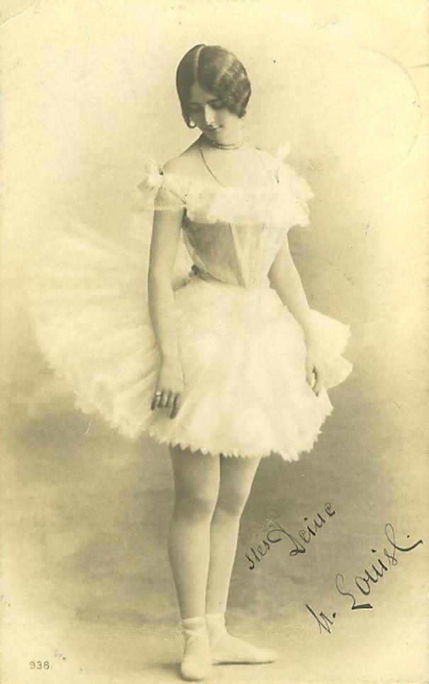 Природе открытки, старинные балерины открытки