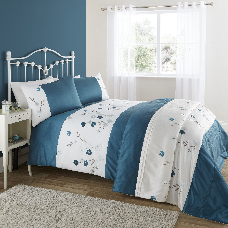 Ponden Home Lique Poppy Duvet Set Blue