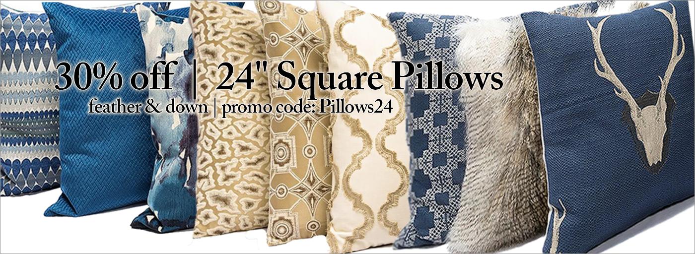 "24"" Pillows 30% off | Code: Pillows24"