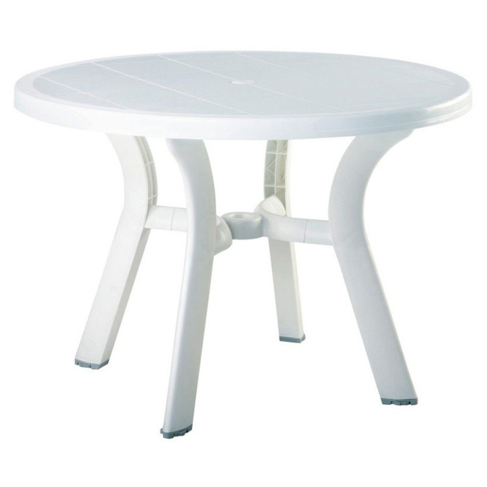 Outdoor Compamia Truva Resin Round Dining Table Square Dining