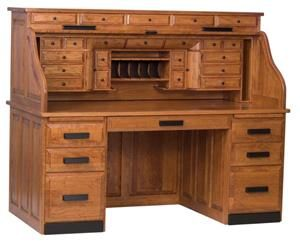 Pa had an old roll top desk where he handled all his business.  His clock sat on top of it.