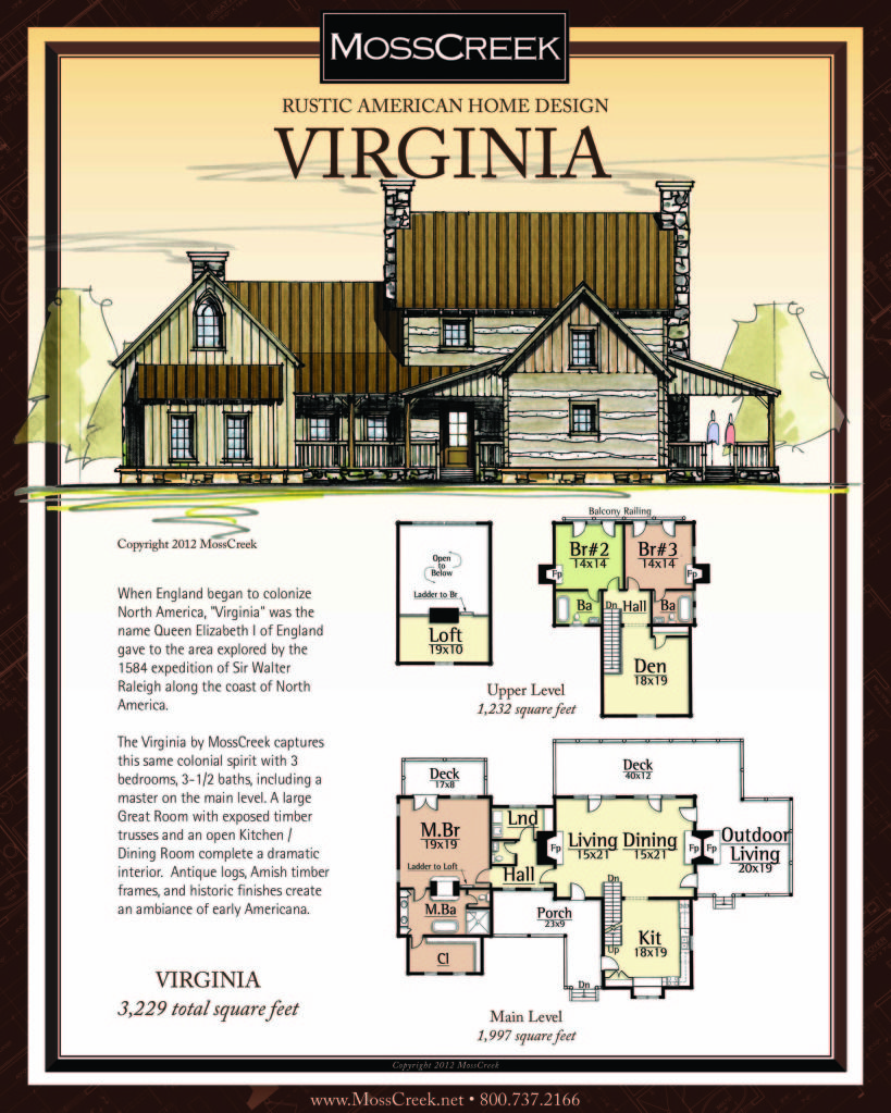 www.MossCreek.net Rustic American Home Design - log cabin, log home ...