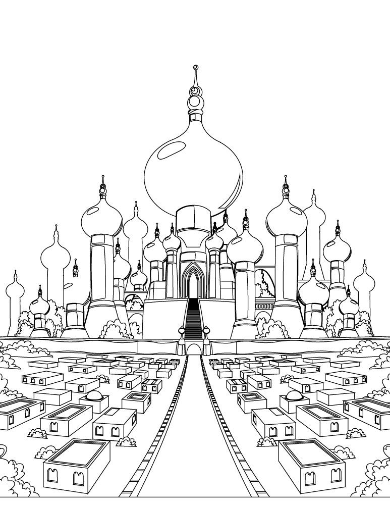 chteau aladdin film disney classique jasmine - Dessin Chateau Disney