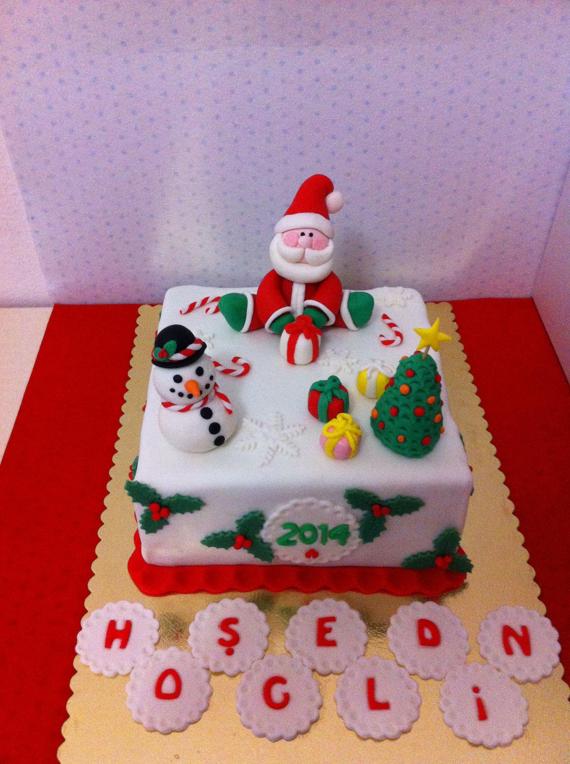 New year, christmas cake