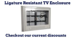ligature resistant tv enclosure, tv enclosure for mental hospitals