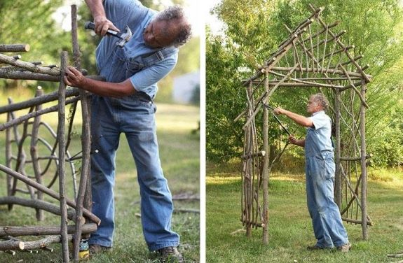 Rustikale Holz Pergola Bauen Ideen | Wohnen | Pinterest | Tipps ... Holz Pergola Rutikal Garten