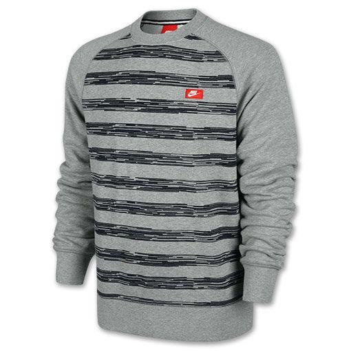 Men's Nike AW77 Speed Stripe Crew Sweatshirt | Finish Line
