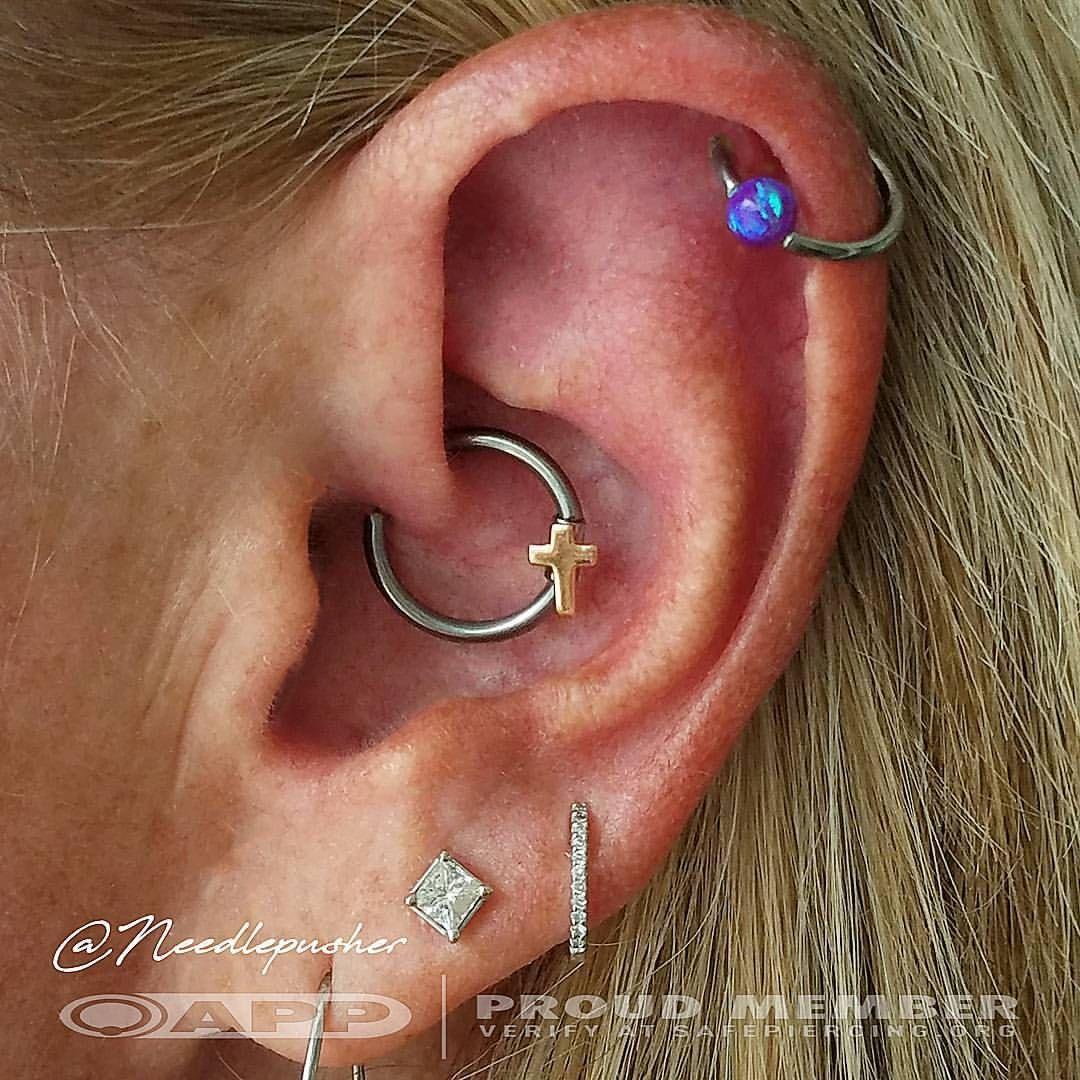 Nose piercing earrings  Pin by Heather Murray on Piercing ideas  Pinterest  Gold cross