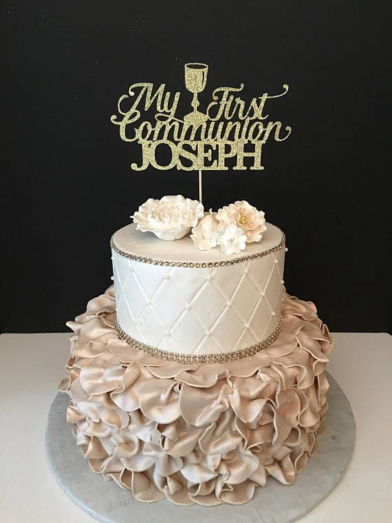 Personalized My First Communion Cake Topper First