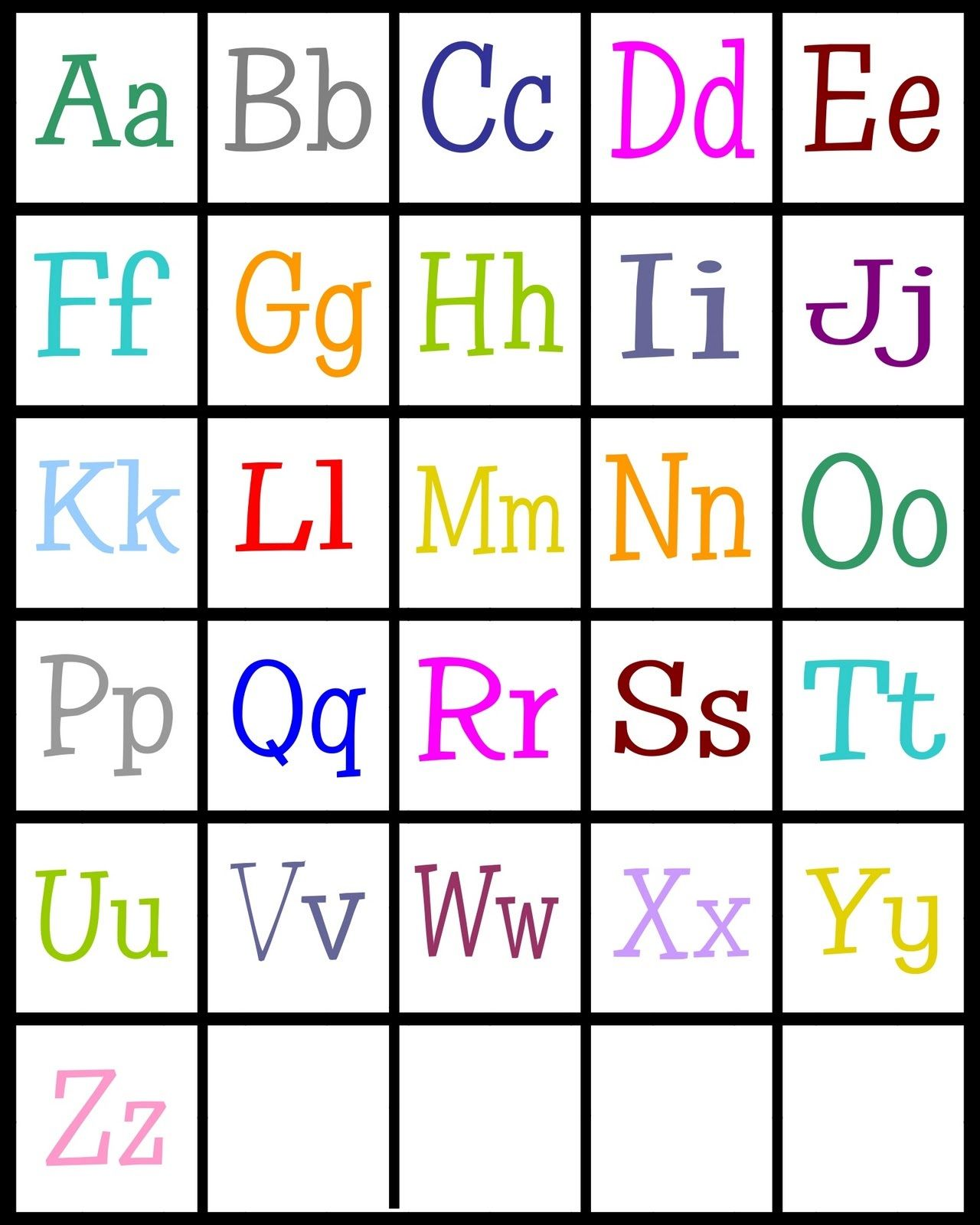 Abc Printable For Children