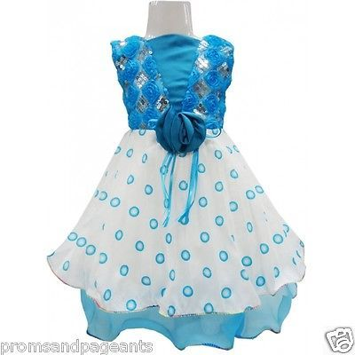 Blue aqua pageant christening #flower girl #birthday easter prom #party dress 0-2,  View more on the LINK: 	http://www.zeppy.io/product/gb/2/261432124123/