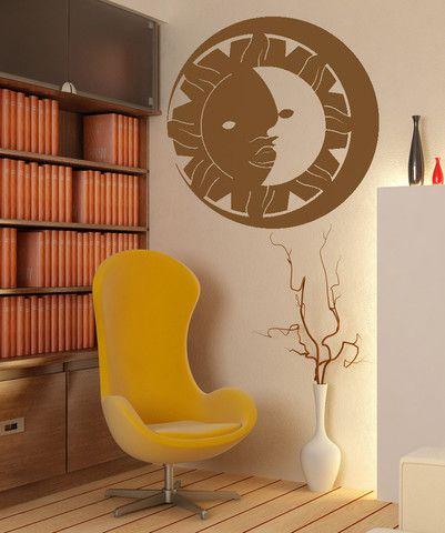 Vinyl Wall Decal Sticker Sun and Moon #OS_MB254 | Stickerbrand wall art decals, wall graphics and wall murals.