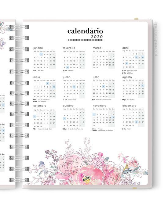 Calendario 2020 Portugues Com Feriados.Master Planner Calendario 2020 Agenda Calendario Anual