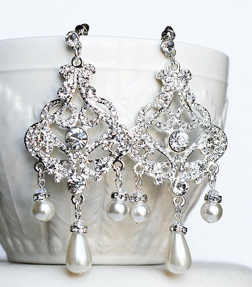 Wedding Earrings Chandelier: 17 Best images about Wedding Jewelry on Pinterest | Bridal statement  necklaces, Rhinestones and Drop earrings,Lighting