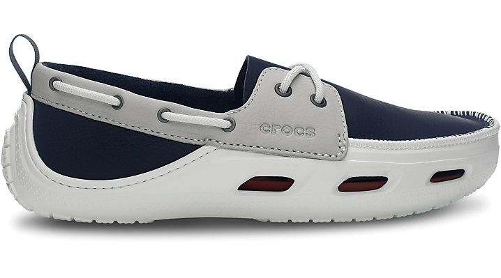 e5e950c8a4522c Crocs Navy   White Cove Sport Comfortable Men s Boat Shoes Yacht Fashion