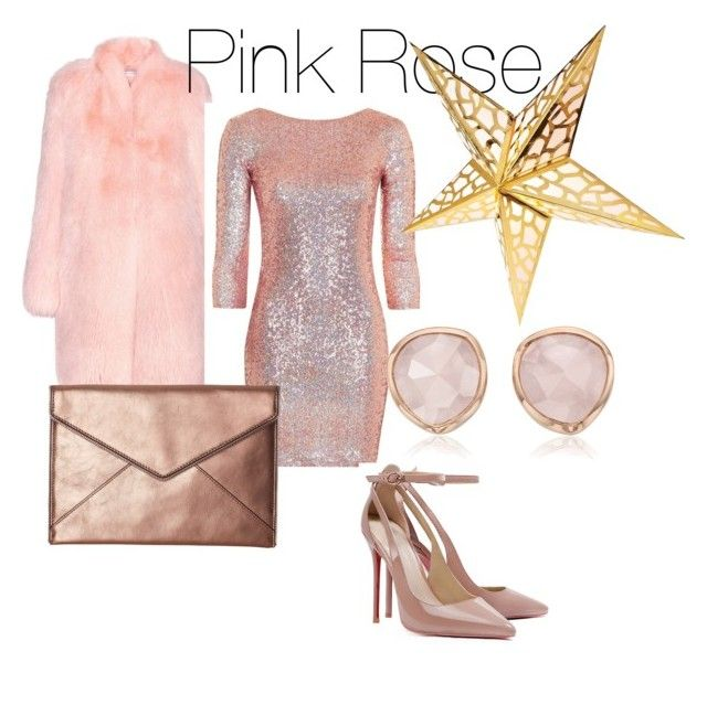 """""""Sparkle this Holiday in             Pink Rose"""" by barbie6813 on Polyvore featuring Altuzarra, Topshop, Rebecca Minkoff and Monica Vinader"""