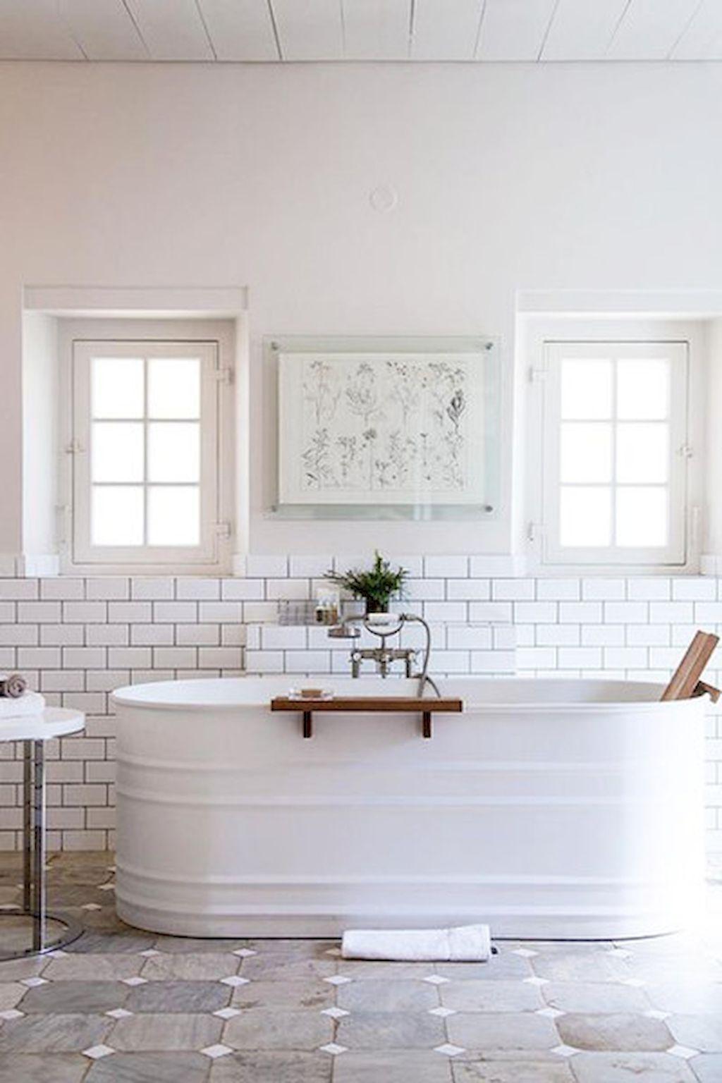 Vintage farmhouse bathroom remodel ideas on a budget (46 ...