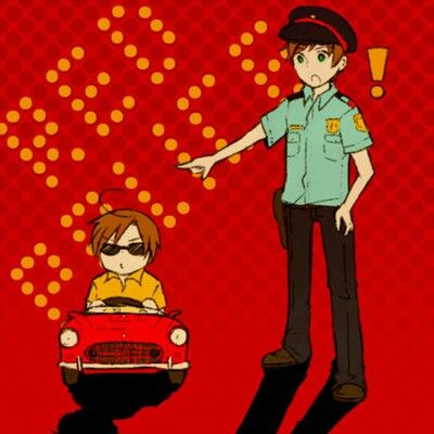 Spain: Stop that vehicle. Romano: F**K THA POLICE! (( for the first time I am agreeing, go f**k that police, Romano. It's worth it! ))