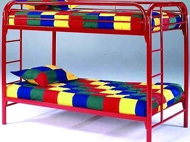 Red High Bunk Bed Amanzimtoti Gumtree South Africa 152502237 Bunk Beds Twin Bunk Beds Metal Bunk Beds